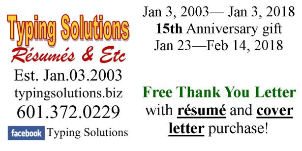 Typing Solutions Rsums  Etc   Official Site  Your Typing